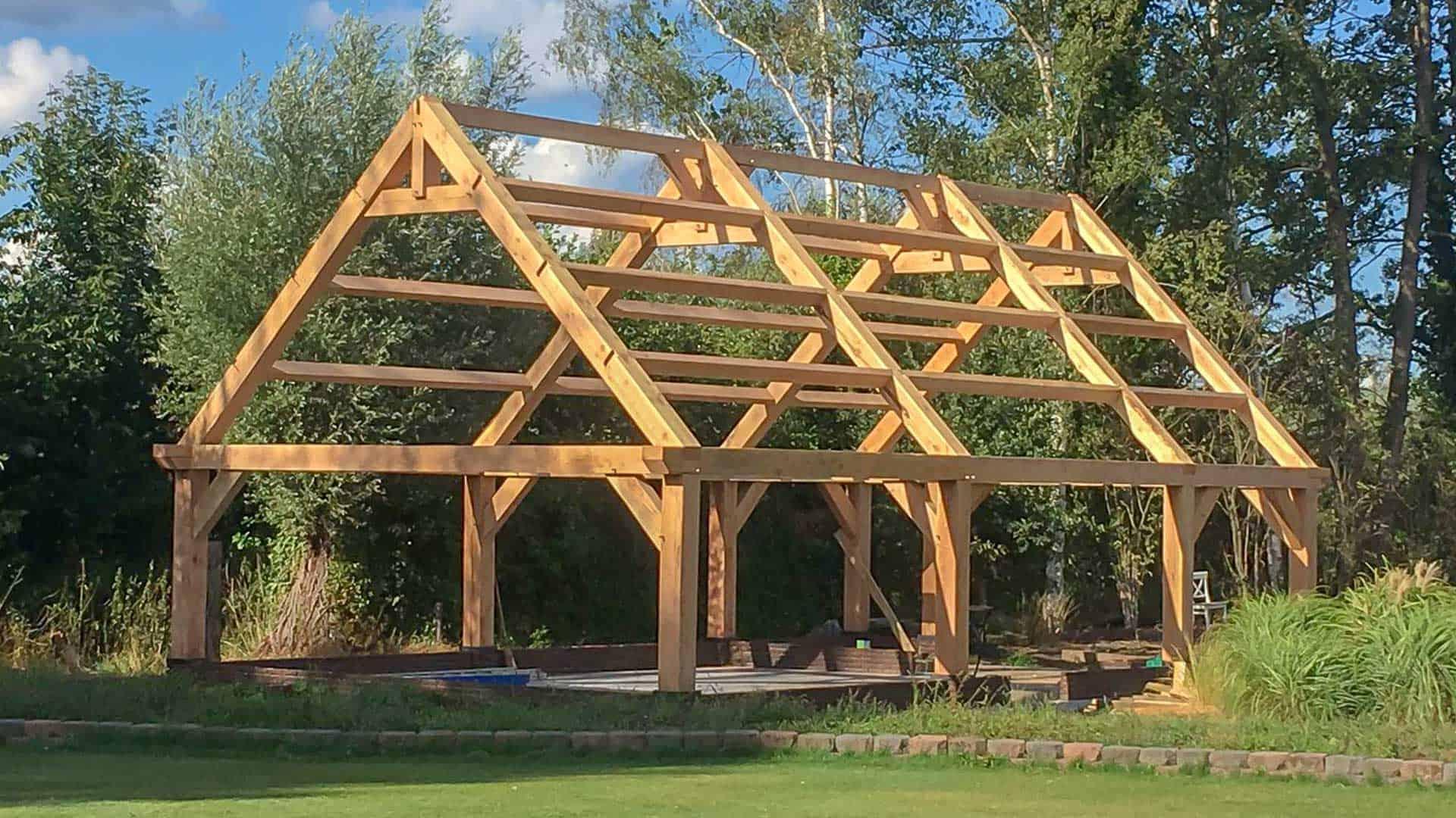 Douglas houten gebinten constructie